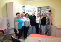 Участники курса по массажу в сентябре 2018года на тему: Лимфосанация. Ведущий - Пётр Фёдорович Головань
